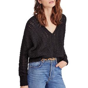 Free people best of you knit Sweater black M